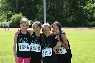 SFJO 11 year girls relay