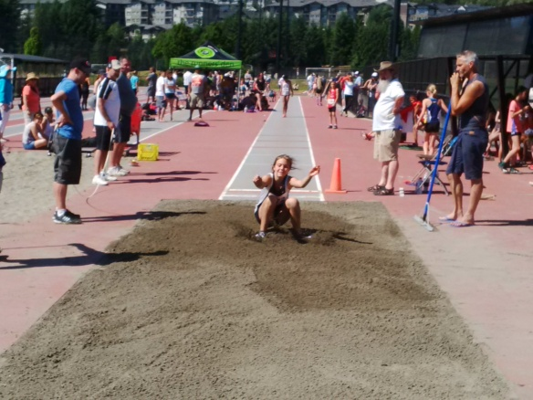 Paige Deedman competes in long jump