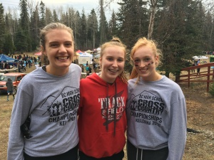 Grace Fetherstonhaugh, middle, named to BC Cross Country Team