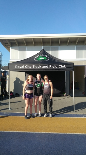 Grace Fetherstonhaugh (left), Brianna Bates (centre) and JV Patry-Smith (right)
